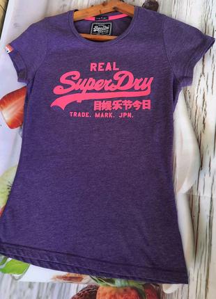 Брендовая женская футболка SuperDry