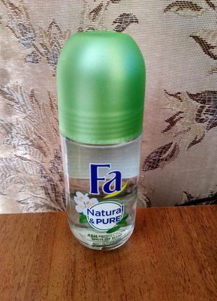 Антиперспирант Fa Natural & Pure Шариковый Женский Белый чай