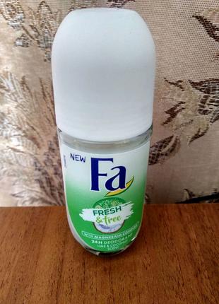 Шариковый дезодорант Fa Fresh & Free Lime & Coconut Scent