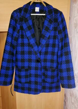 Женский пиджак George, пиджак размер 48-50, клетчатый пиджак
