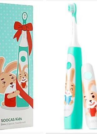Детская зубная щетка Xiaomi Soocas C1, *запасные насадки.