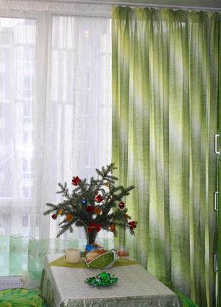 Тканина жатка райдуга для штор різних кольорів