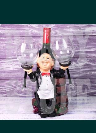 Декоративный набор для вина и бокалы в виде поваренка