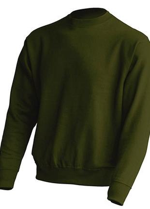 Мужской свитшот без капюшона темно-зеленый