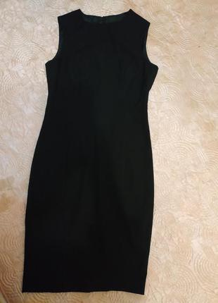 Элегантное чёрное платье футляр от zara