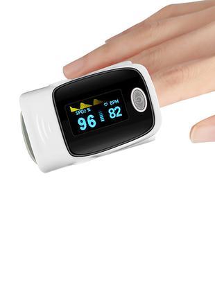 Пульсоксиметр (пульсометр/оксиметр) на палец для измерения пульса