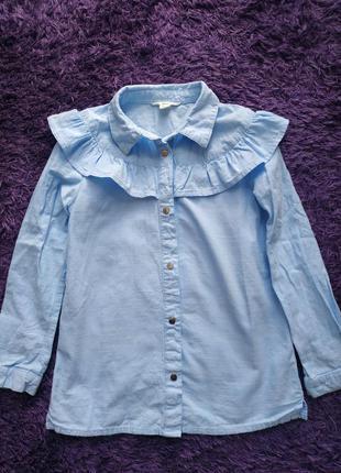 Классная рубашка с баской для девочки от river island
