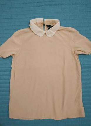 Шелковая пудровая блуза от marc by mark jacobs
