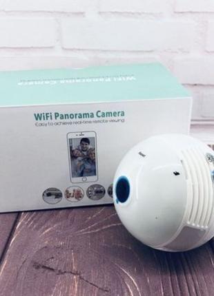 Панорамная WiFi камера . Камера видеонаблюдения. Камера лампа ...