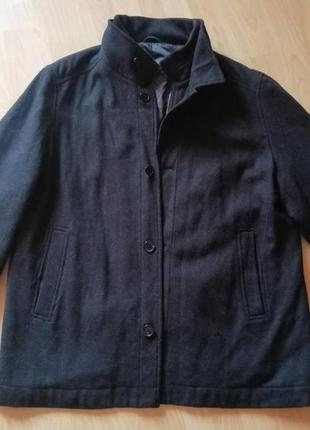 Мужское шерстяное пальто 56-58р