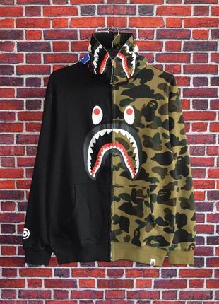 Худи bape shark full zip
