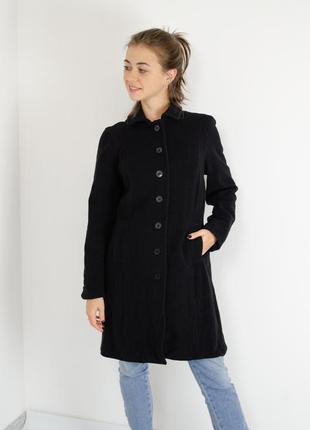 Gap черное классическое пальто из шерсти и кашемира с карманами