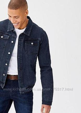 Куртка чоловіча джинсова livergy 50p
