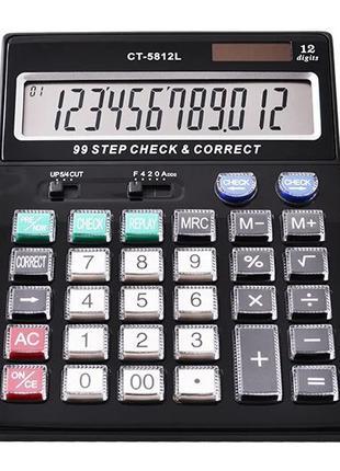 Калькулятор Citizen CT-5812L бухгалтерский, нестираемые клавиши