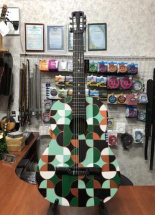 (3597) Гитара с Росписью Новые Колки и Струны