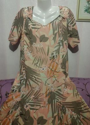 Нежное платье жатый шелк (пог-58 см)   38