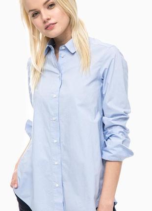Голубая рубашка в мелкую полоску от mark o'polo