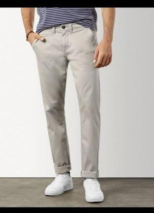 Светлые мужские штаны, брюки slim fit livergy