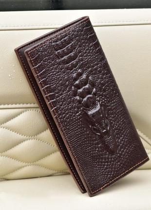 Мужское портмоне кошелек крокодил