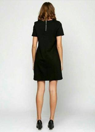 Классическое чёрное платье футляр прямого кроя esmara