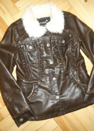 Куртка под кожу с мехом внутри