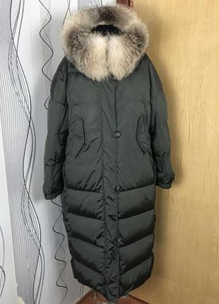 Пуховое пальто куртка max mara