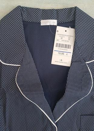 Хлопковая рубашка oysho в крапинку