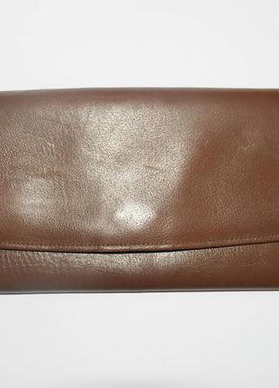 Кожаный кошелек. кошелек для документов, для паспорта.