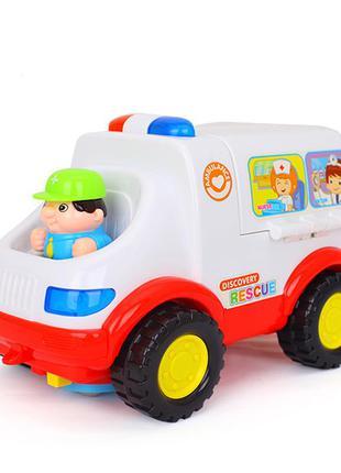 Детская машина скорая помощь интерактивная свет звук набор док...