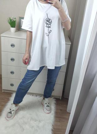 Белая футболка с розой asos