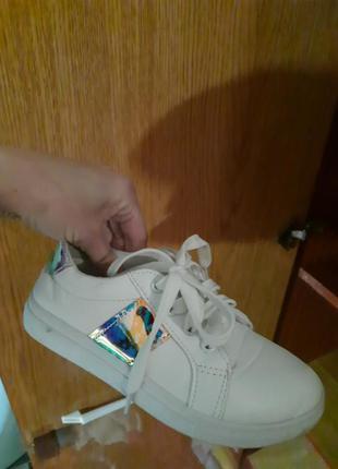 Кеды кроссовки белые