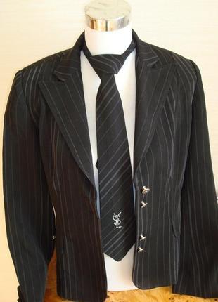🍁деловой офисный костюм женский двойка ( брюки+ юбка, ), черны...