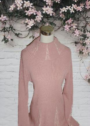 🌹🌹стильный свитер женский нежного пудрового цвета полушерсть 🌹🌹🌹