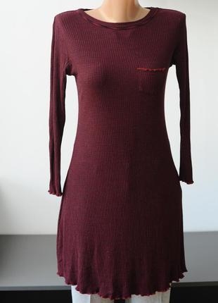 Cooperative . трикотажное платье мини бордовое.