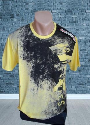 ✨✨стильная мужская футболка цвет желтый хлопок турция xl ✨✨✨