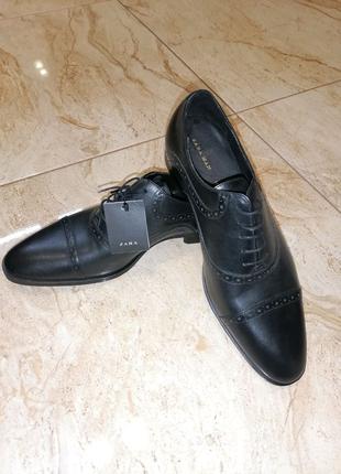 Туфлі  чоловічі Zara 100% шкіряні