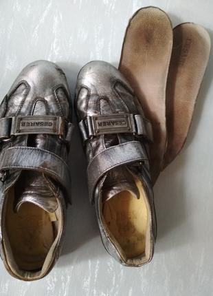 Итальянские кожаные кроссовки спортивные туфли cesare paciotti