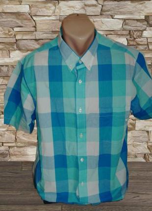 🎋🎋летняя мужская рубашка короткий рукав в клетку jacamo l 🎋🎋🎋