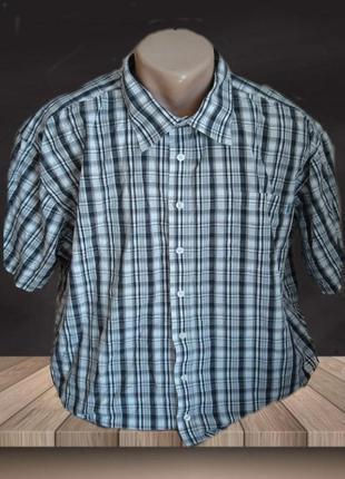 🌴🌴летняя мужская рубашка в клетку хлопок bison 3xl🌴🌴🌴