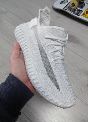 Мужские летние кроссовки yeezy boost белые