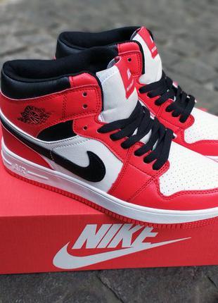 Мужские кроссовки в стиле Nike jordan retro 1 красные