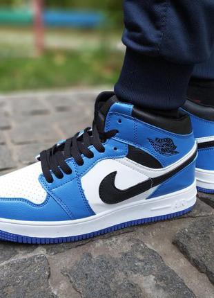 Мужские кроссовки в стиле Nike air jordan retro 1 синие