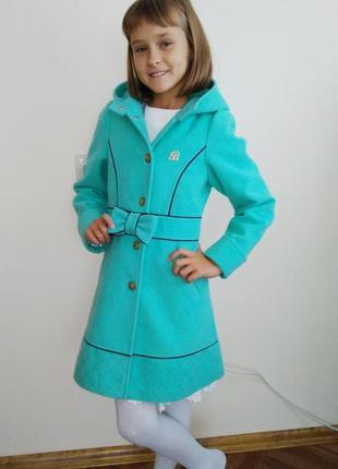 Пальто для девочки подростка р.140см