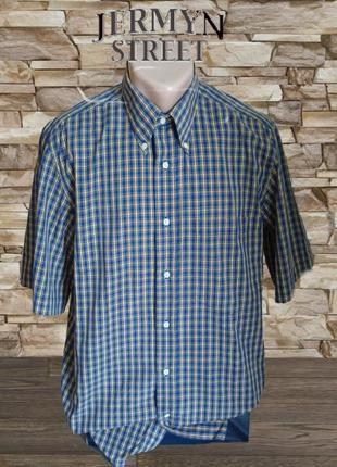 🎋🎋jermyn street летняя мужская рубашка короткий рукав l 🎋🎋🎋