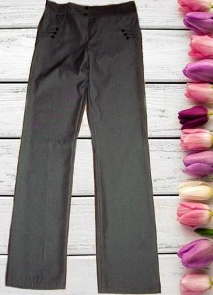 🍁🍁стильные женские брюки осень/весна средняя посадка т- серый ...