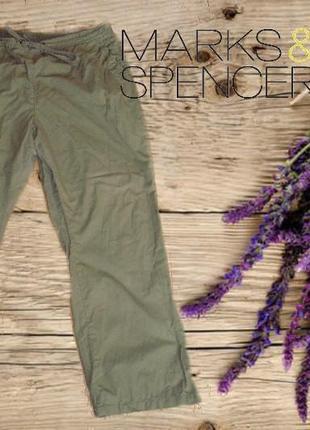🌼🌼m&s летние хлопковые женские брюки хлопок хаки 16🌼🌼🌼