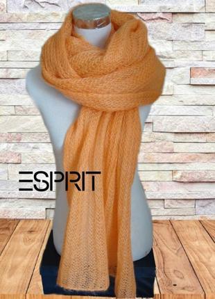 💨❄esprit 100% мохер шарф женский теплый  англ резинка абрикос 💨❄💨