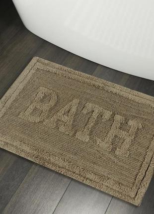 Хлопковые коврики для ванной коврик в ванную хлопок бежевый