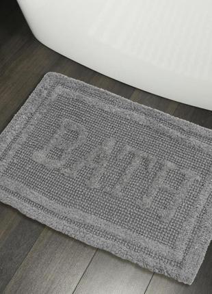 Хлопковые коврики для ванной коврик в ванную хлопок серый