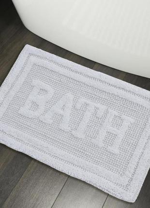 Хлопковые коврики для ванной коврик в ванную хлопок белый
